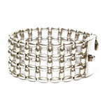 Silver Rice beads Bracelet, 3 row [BRF-212]