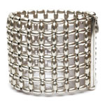 Silver Rice beads Bracelet, 6 row [BRF-217]