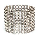 Silver Rice beads Bracelet, 7 row [BREL-229]