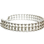 Silver Rice beads Choker, 2 row [CHF-219]
