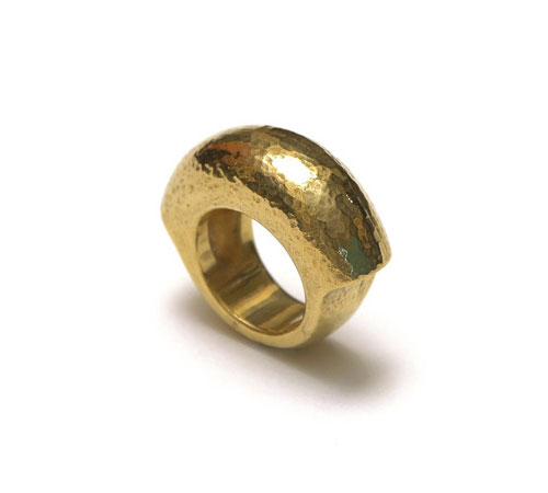 Domed Gold plated Ring