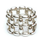 Silver Rice beads Ring, 2 row [RNG-SLV2]