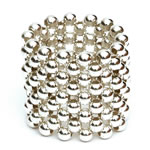 Ring - Sterling Silver round beads [RNG-SLV4]