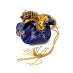 Blue brocade with gold pattern and cord[2]