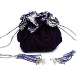 Navy velvet with silver and blue trim and cord[3]