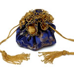 Blue chinese brocade with gold cord[6]