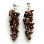Chocolate pearls with tigers eye chips and colorado crystals[606]
