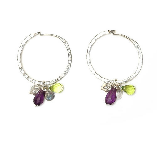 Hoop Earrings with mixed charms