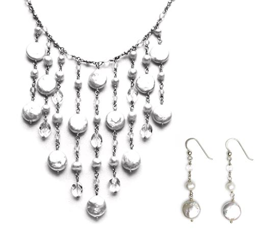 Very French Necklace & Earrings